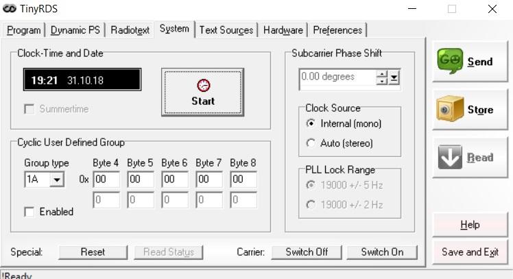 Aareff Tiny RDS Application Program